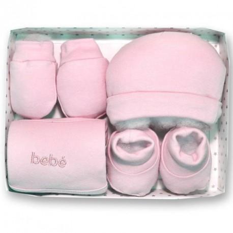 Gamberritos 4 piece Pink Baby Gift Set