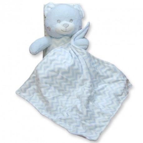 Gamberritos Blue Teddy Snuggle Comforter