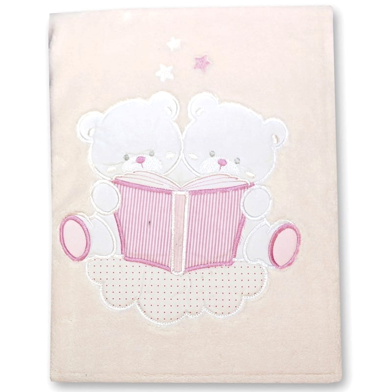 Gamberritos Pink Teddy Baby Blanket