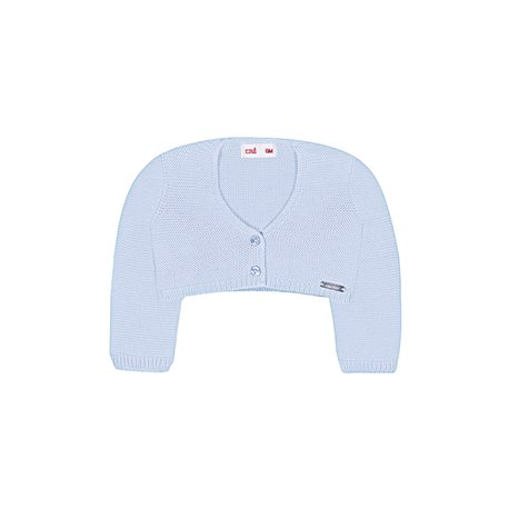 Girl's Condor Moss Stitch Blue Cardigan