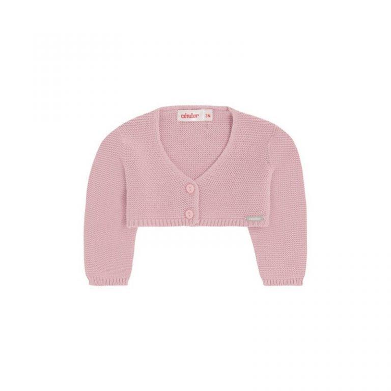 Condor Moss Stitch Girl's Cardigan Pink