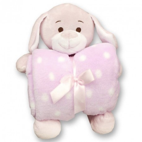 Gamberritos Pink Teddy Snuggle Blanket Comforter