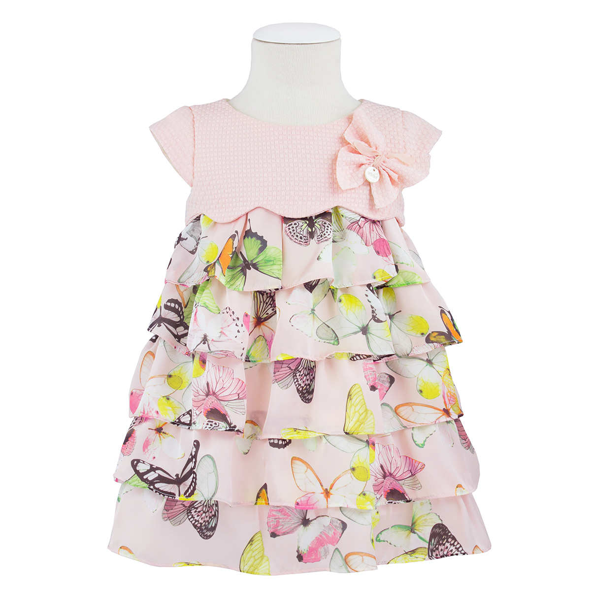 Kiriki Girl's Pink Butterfly Dress