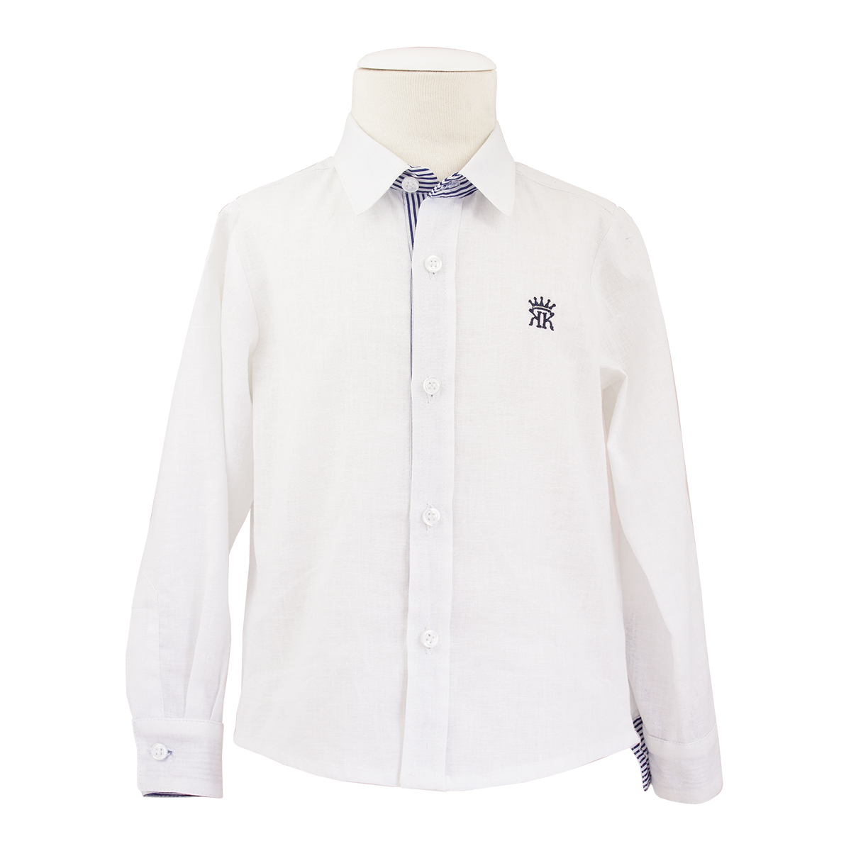 Kiriki Boys White & Navy Shirt