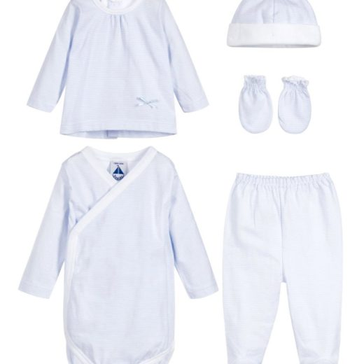 BABIDU BLUE 5 PIECE GIFT SET SPANISH BABY WEAR