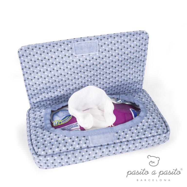 PASITO A PASITO BLUE BABY WIPE CASE