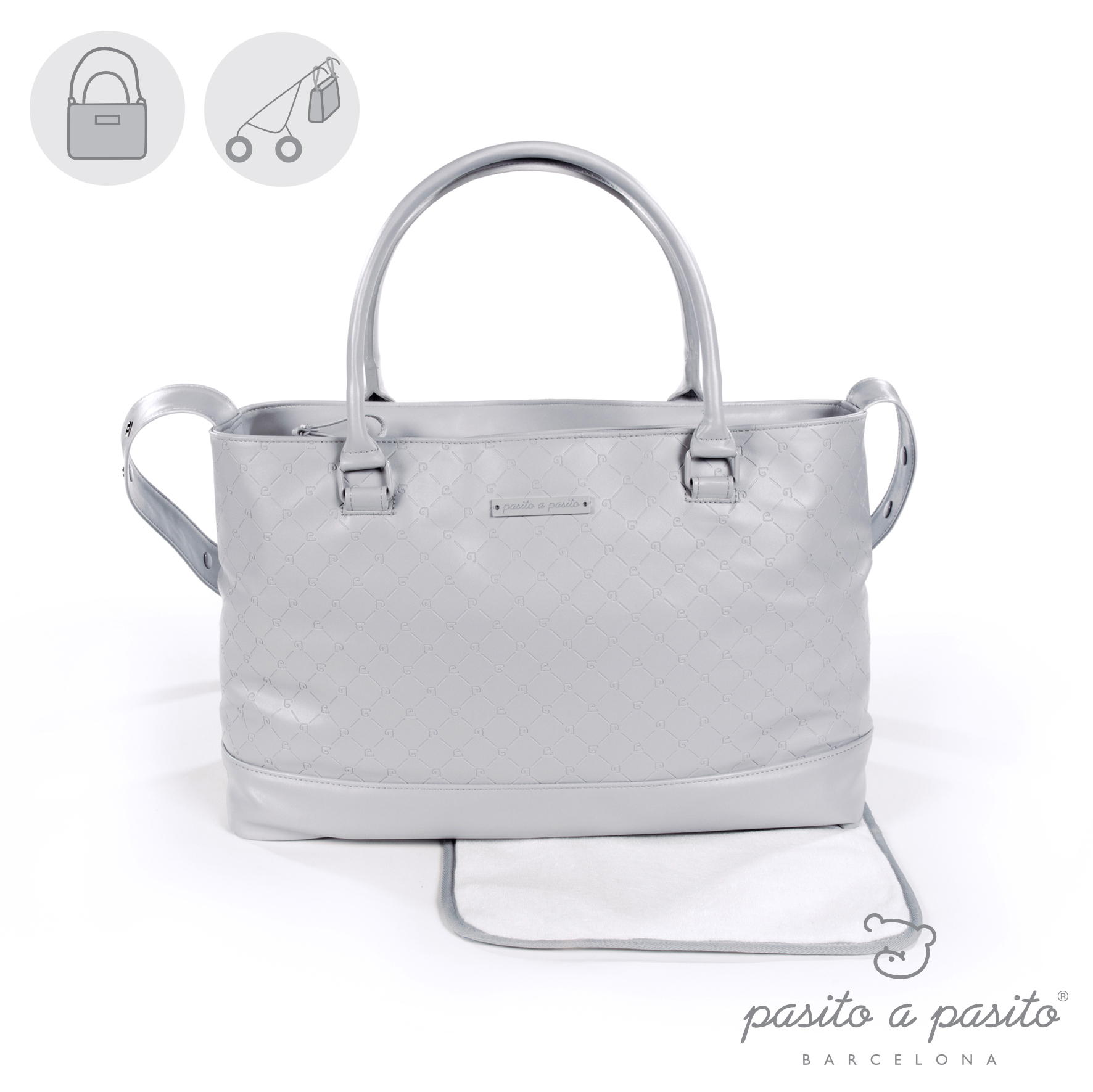 PASITO A PASITO NORMANDY GREY CHANGING BAG