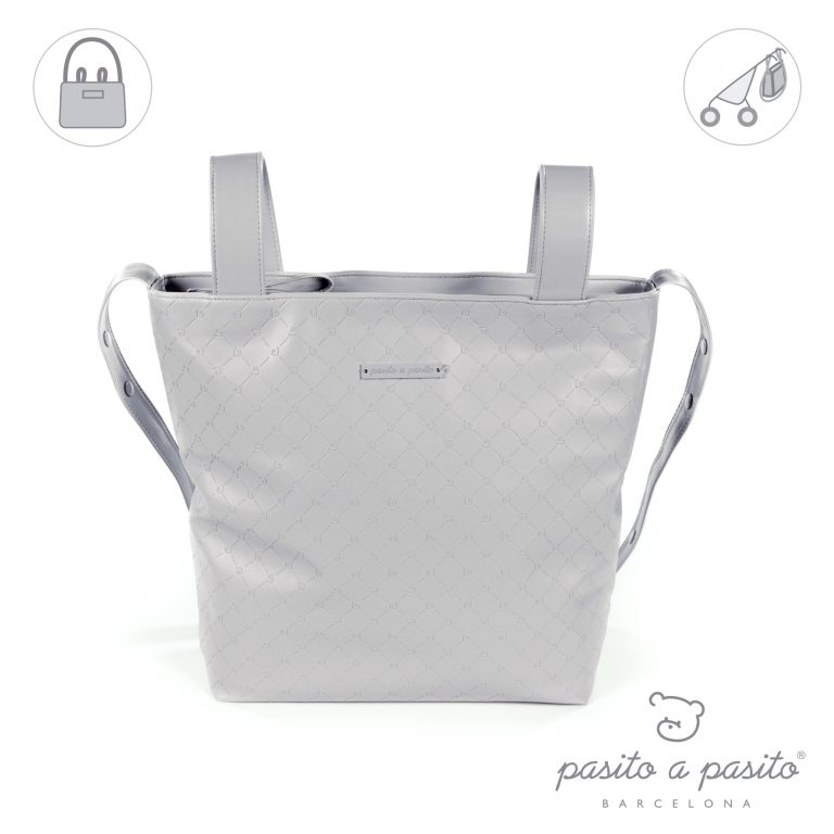 pasito a pasito grey baby changing bag