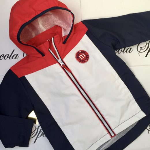 MITCH & SON MS NAVY /RED/ WHITE COLOUR BLOCK JACKET