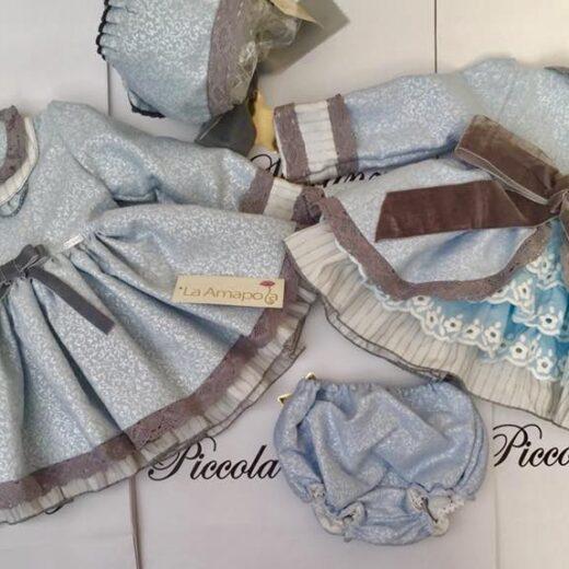 LA AMAPOLA BLUE DRESS
