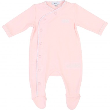 BOSS PINK BABYGROW SLEEP SUIT