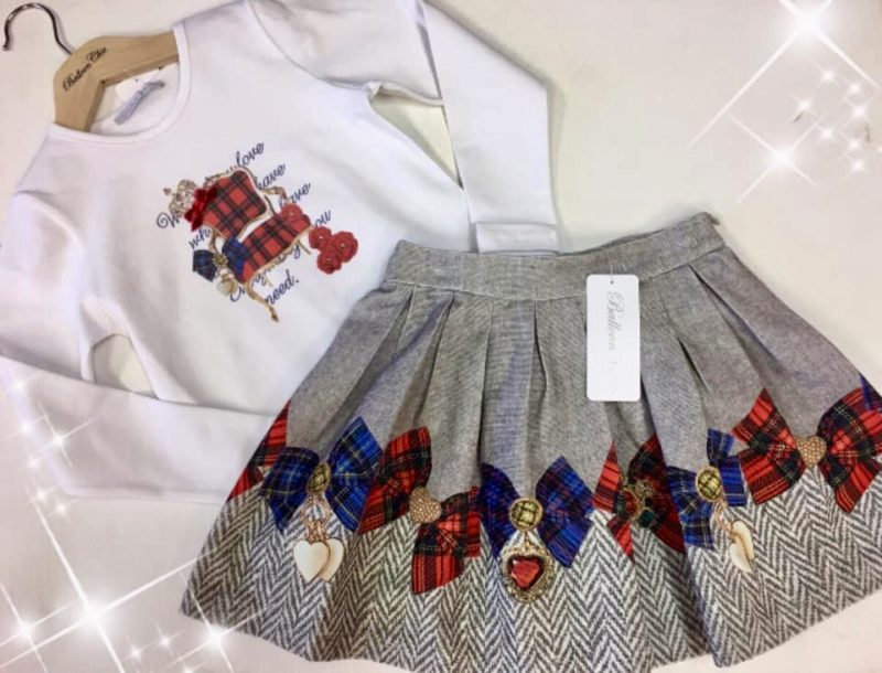 balloon chic skirt set