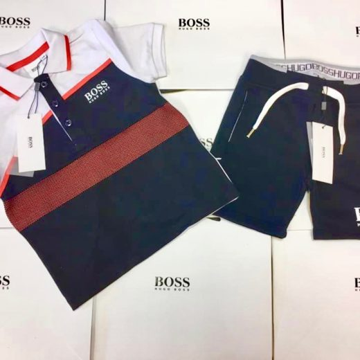 HUGO BOSS BOYS SHORT SET
