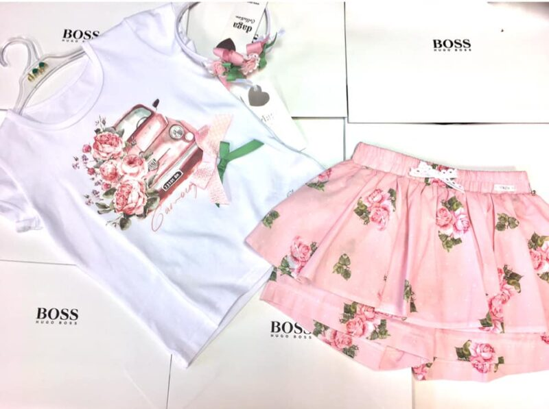 DAGA GIRLS CAR SHORT SET