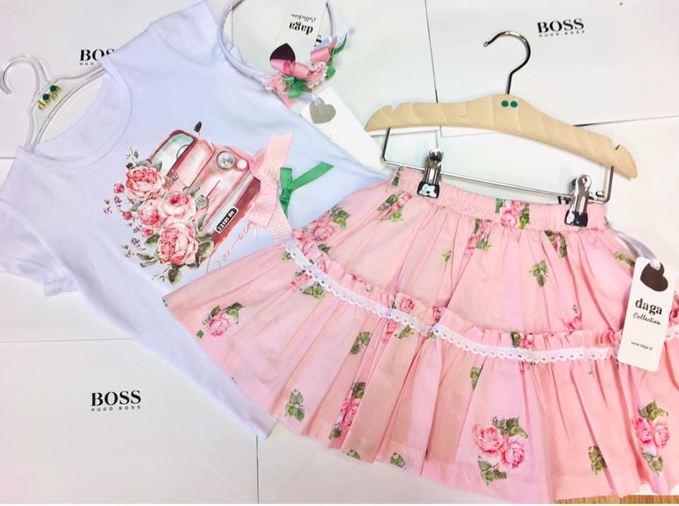 Daga Girls Car Skirt Set